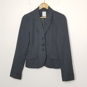 Smart Set | Flip Cuff Gray Button Classic Blazer